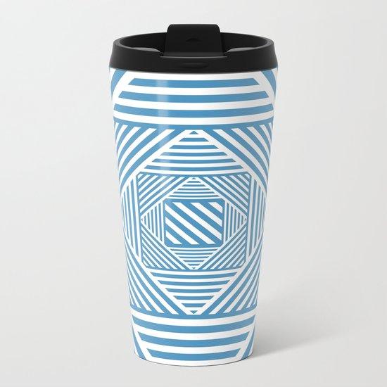 Blue & White Secret Passage Metal Travel Mug
