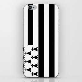 Flag of brittany iPhone Skin