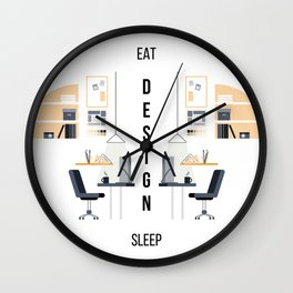 Eat Design Sleep Wall Clock
