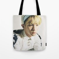 shinee Tote Bags featuring Key - SHINee by Felicia