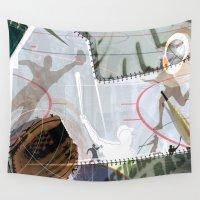 baseball Wall Tapestries featuring BASEBALL by Robin Curtiss