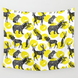 half animals pattern Wall Tapestry