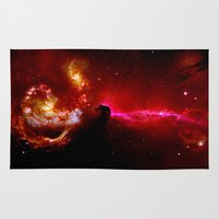 universe Area & Throw Rugs featuring Universe by Fine2art