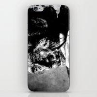 bukowski iPhone & iPod Skins featuring Charles Bukowski - black - quote by ARTito