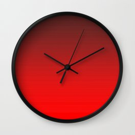 Tinted Red Wall Clock
