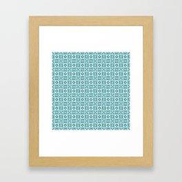 Lines and shapes - Dark Teal Framed Art Print
