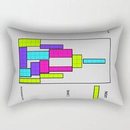 Level 1 blue Rectangular Pillow