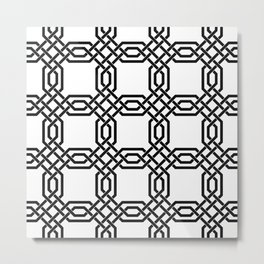 Monochrome lattice pattern  Metal Print