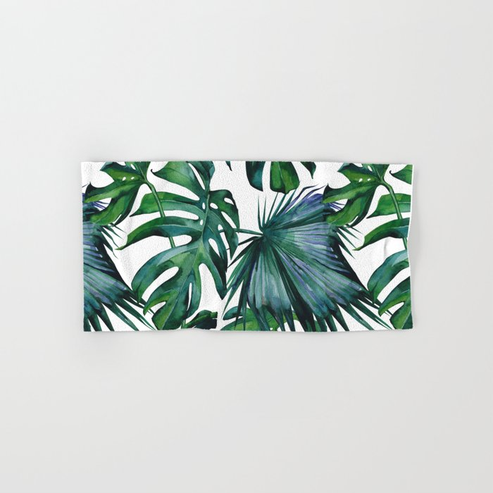 Tropical Palm Leaves Classic Hand & Bath Towel