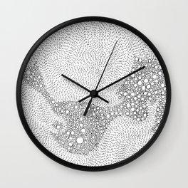 the mole's hyperacidity | white Wall Clock