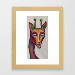 Giraffe Man Framed Art Print