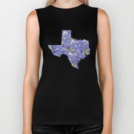 Texas in Flowers Biker Tank