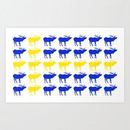 Graphic Elk 06 Swedish Male Flag Art Print