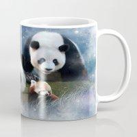 pandas Mugs featuring Pandas by Julie Hoddinott