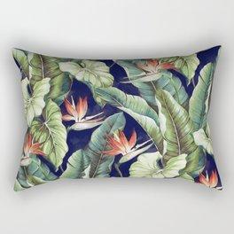 Night tropical garden II Rectangular Pillow