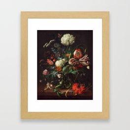 Jan Davidsz de Heem - Vase of Flowers Framed Art Print