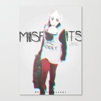misfits Canvas Prints featuring Misfits by SAH.