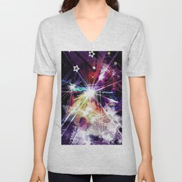 UNIVERSE ABSTRACT. Unisex V-Neck