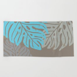 Hawaiian leaves pattern N0 2, Art Print collection, illustration original pop art graphic print Beach Towel