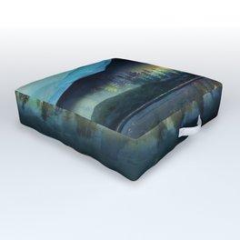 Mountain Lake Under Sunrise Outdoor Floor Cushion