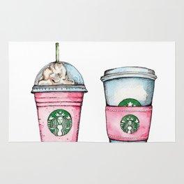 Pink Starbucks Cups Art Rug