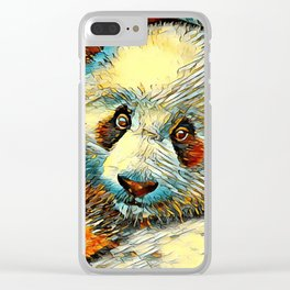 AnimalArt_Panda_20170601_by_JAMColorsSpecial Clear iPhone Case