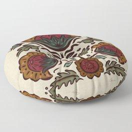 Spanish Blooms - linen-neutral-color Floor Pillow