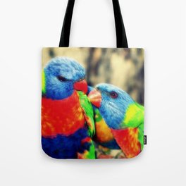 Rainbow Lorikeets Tote Bag