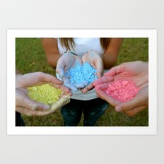 Chalk Hands Art Print