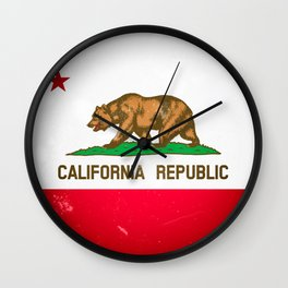 The Old Bear Flag - Californian flag old late Wall Clock
