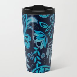 Classic Paisley in Navy and Blue Travel Mug