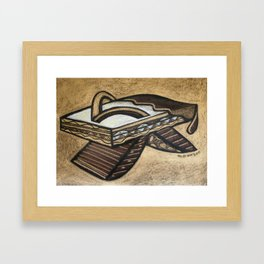 Chocolate Shoes : Biscotti Slippers Framed Art Print