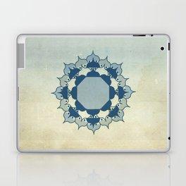 Lotus Mandala Light Blue Center Sand Water Wash Laptop & iPad Skin