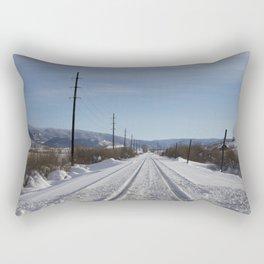 Carol M. Highsmith - Snow Covered Railroad Tracks Rectangular Pillow