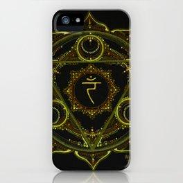Solar Plexus Mandala iPhone Case
