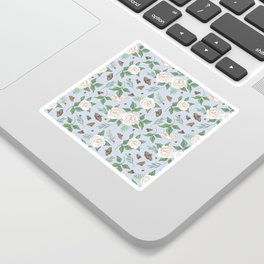 Roses, Moths and Ladybirds Sticker
