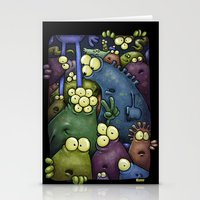 aliens Stationery Cards featuring Crowded Aliens by Billy Allison
