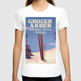 Großer Arber, Arberland, Bavarian ski poster T-shirt
