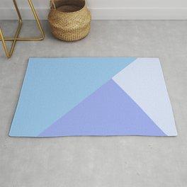 Pastel Blue Geometric Rug