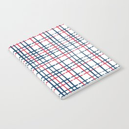 4th of July Skinny Gingham Notebook