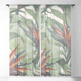 Tropical Flora I Sheer Curtain