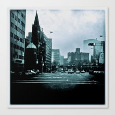 Broad & Central B&W Canvas Print