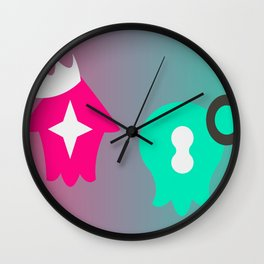 Pearl & Marina - Splatoon 2 Wall Clock