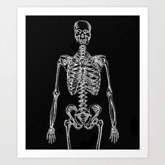 Skeleton Bones Art Print