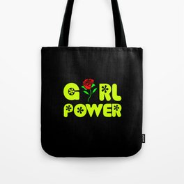 girl power quote with beautiful flower Tote Bag