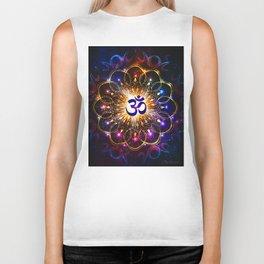 """""""The higher power of Om"""" - sacred geometry Biker Tank"""