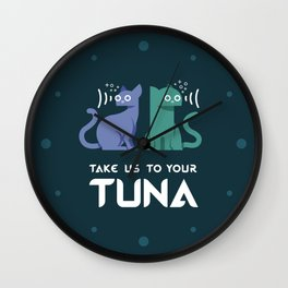 Take Us to Your Tuna Wall Clock