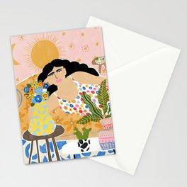 Cozy saturday evening Stationery Cards