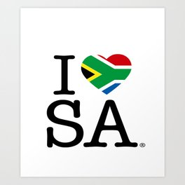 I LOVE SOUTH AFRICA Art Print