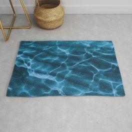 Crystalline Sea - Deep Blue Rug